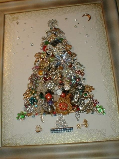 how to make a vintage jewelry tree make costume jewelry artwork collage for your wall