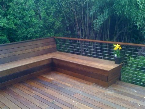 patio table with bench seating 25 best ideas about deck benches on deck
