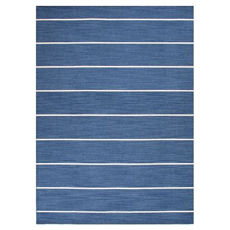 blue and white stripe rug live it pinterest