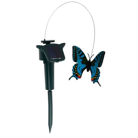 solar powered ornaments fluttering butterfly solar powered ornament colourful
