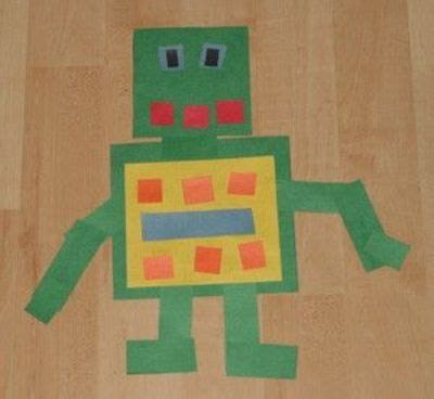 rectangle crafts for shapes robot craft preschool items juxtapost