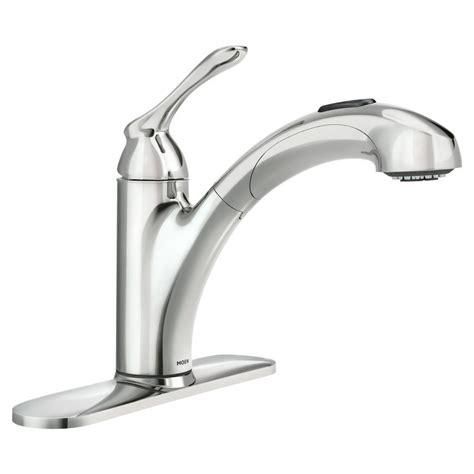 single handle kitchen faucet with sprayer moen banbury single handle pull out sprayer kitchen faucet