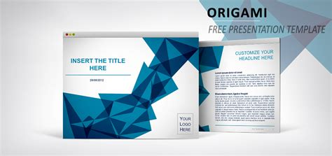origami free template for powerpoint and impress