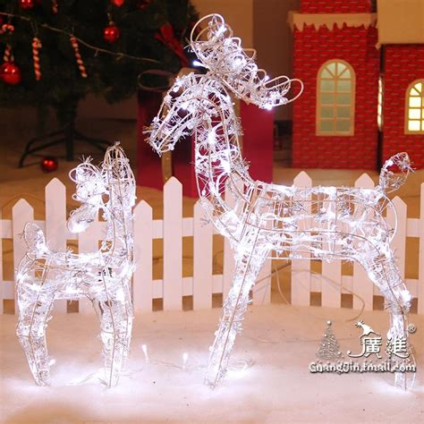 lighted reindeer decorations animated lighted reindeer deer family yard