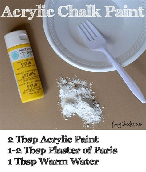 diy chalk paint plaster of recipe chalk paint recipes acrylics and paint on