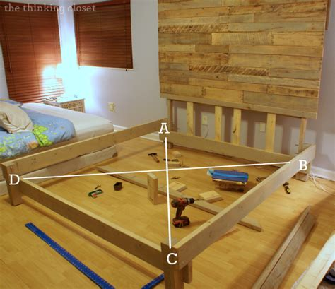 how to make a king bed frame how to build a custom king size bed frame the thinking