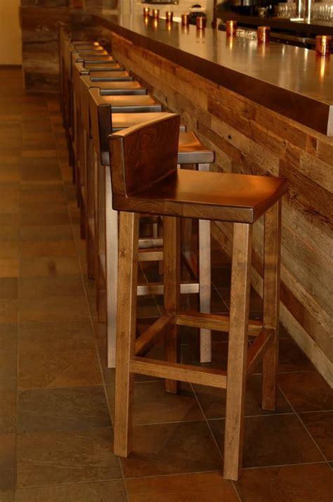 Custom Wood Bar Stools by Made Alder Bar Stool By Woodvisions Inc