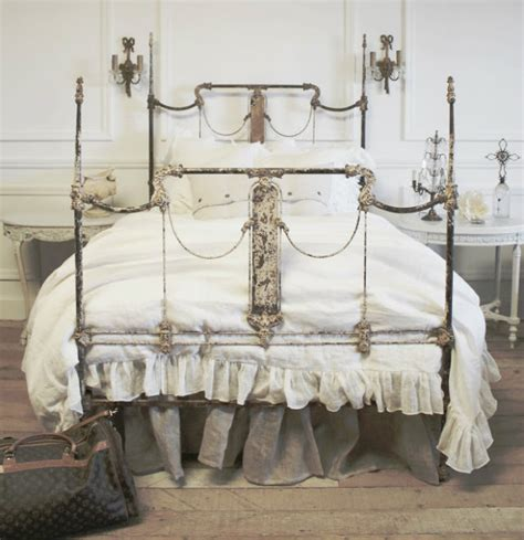 white shabby chic beds must shabby chic item the wrought bed inspiration