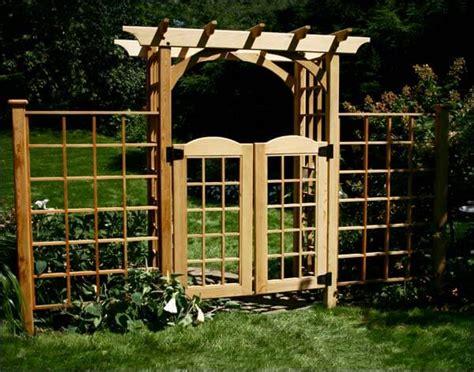 Garden Arbor With Gate Kit 31 Backyard Arbor Designs And Ideas