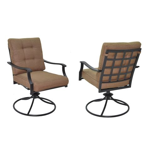 patio dining chair shop garden treasures set of 2 eastmoreland textured brown