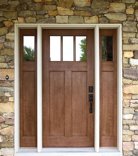 style front door exterior doors craftsman style fir textured fiberglass
