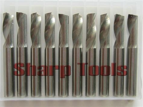 cnc woodworking tools 10pcs 6 15mm single flute milling cutters carbide cutting