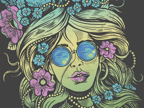 flower child painting flower child in psychedelic color by derrick castle