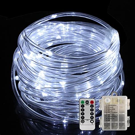 twinkle lights battery powered led rope lights battery operated with remote timer 8 mode