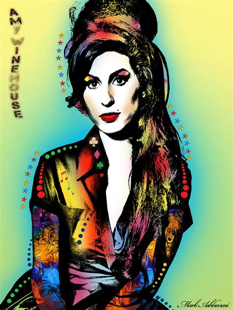 House Design Online amy winehouse painting by mark ashkenazi