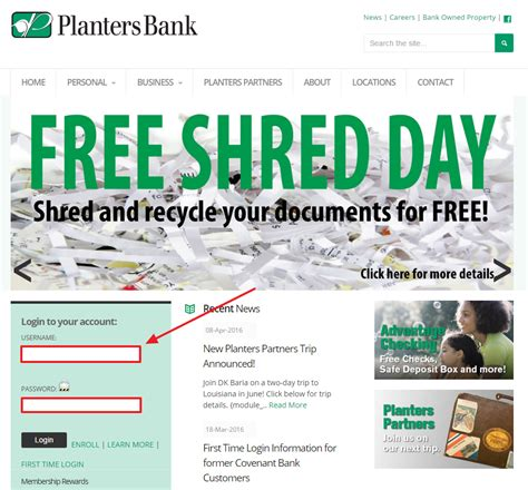 planters bank banking sign in login