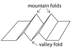 what is a mountain fold in origami raindrops