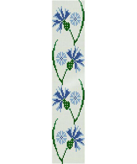 seed bead bracelet patterns loom loom stitch pattern blue cornflower cuff bracelet by