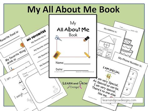 picture me book my all about me book