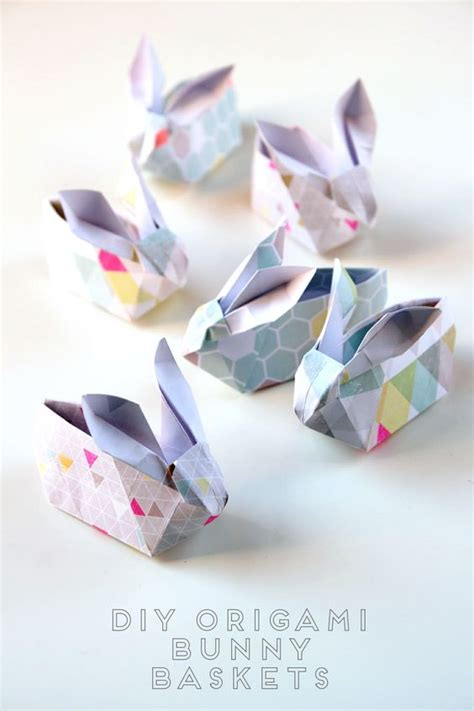 origami easter bunny basket diy origami easter bunny baskets see you diys and