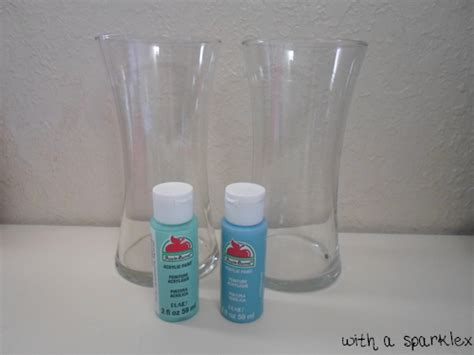 use acrylic paint with a sparkle paint glass using acrylic paint
