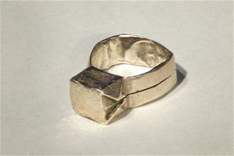 origami ring catrett s silver origami ring