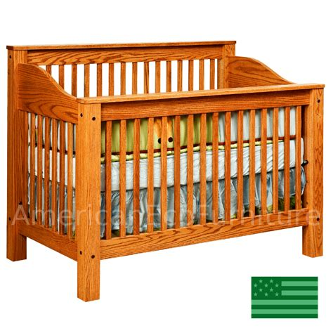 solid oak baby cribs amish mission 4 in 1 convertible baby crib solid wood