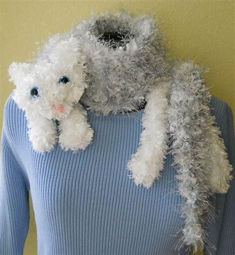 knitted cat scarf pattern snuggle cat scarf pdf knitting pattern by patternsalacarte