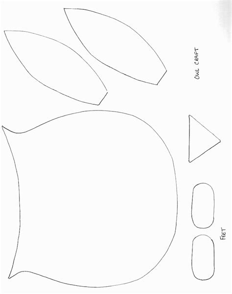 crafts templates birds crafts print your owl template all network