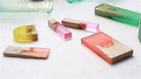 with resin designer marcel dunger creates jewelry by fusing colorful