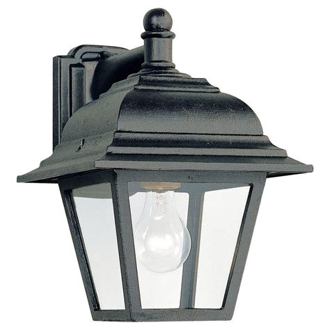 outdoor light fixtures home depot sea gull lighting lancaster 1 light antique brushed nickel