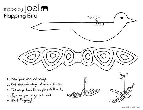 paper bird craft template made by joel 187 flapping paper bird