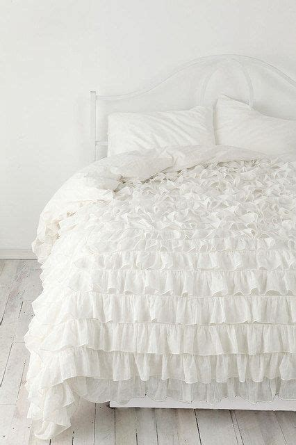 ruffled bedding sets white ruffle bedspread set 3pc cotton by
