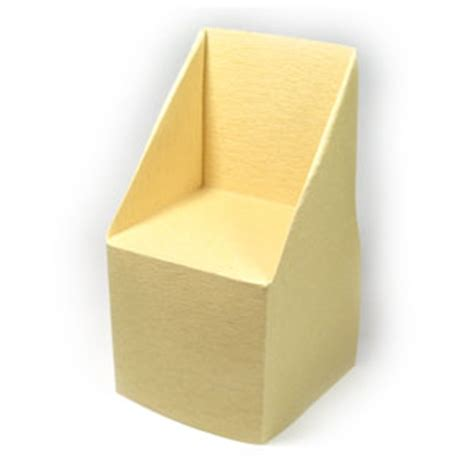 how to make an origami chair how to make a large trapezoid origami chair page 1