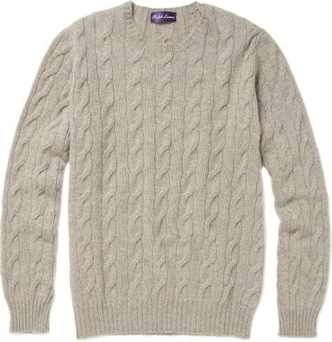gray cable knit sweater ralph purple label cable knit sweater in