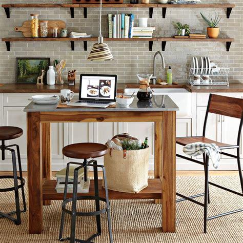 kitchen island rustic adjustable industrial stool west elm australia