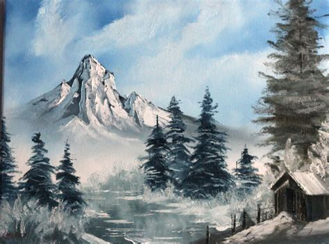 bob ross paintings winter happy accidents