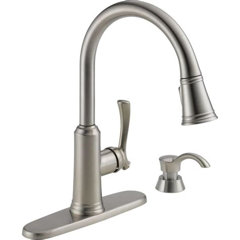 delta kitchen faucet with sprayer delta lakeview single handle pull sprayer kitchen