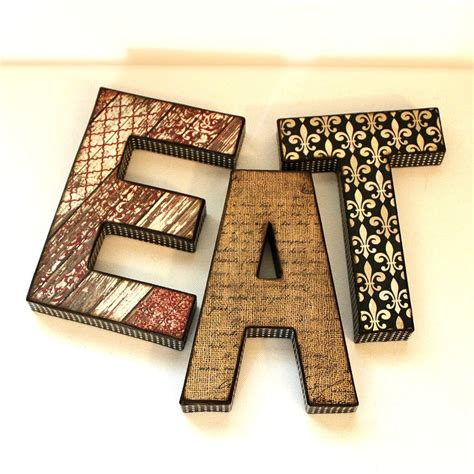 decoupage words eat letters custom names words on luulla