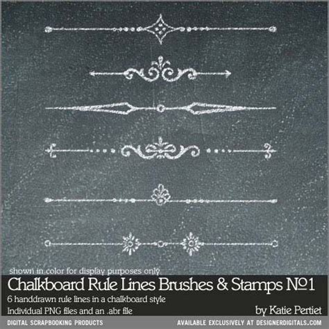 chalk paint photoshop chalkboard rule lines brushes and sts no 01
