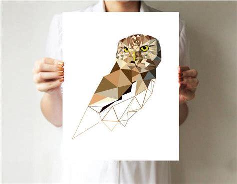 geometric wall decor geometric print owl print geometric wall decor