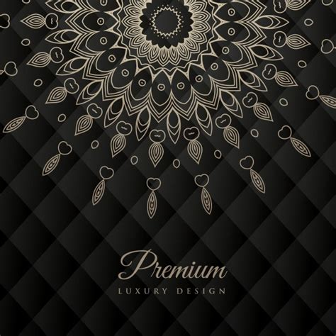 ornament background mandala design with ornament on black background vector