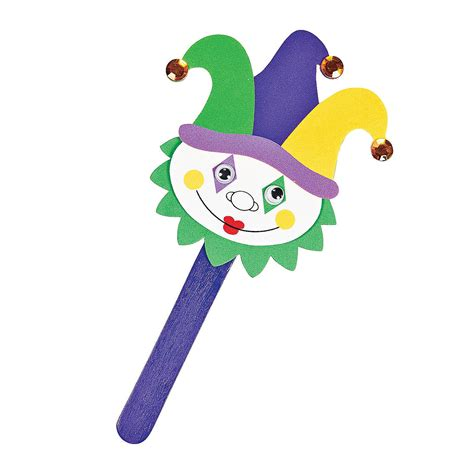 mardi gras crafts for mardi gras jester puppets craft kit trading