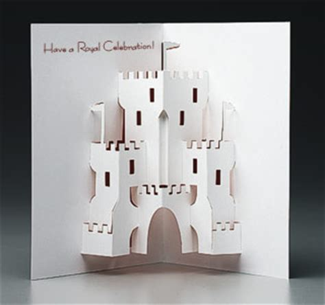 how to make a card castle pop up castle