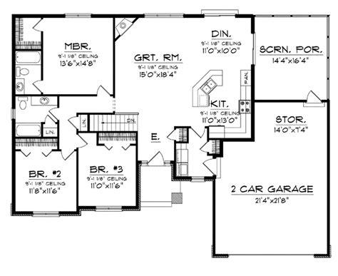 an open concept floor plan hwbdo76173 craftsman house