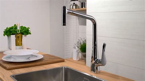 Kitchen Pullout Faucet hansgrohe metris kitchen mixer pull out spray youtube