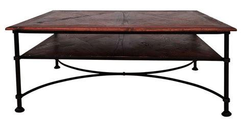table basse bois verre fer forge ezooq