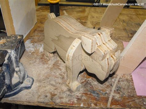 plywood woodworking projects barkley the bulldog bench woodchuckcanuck