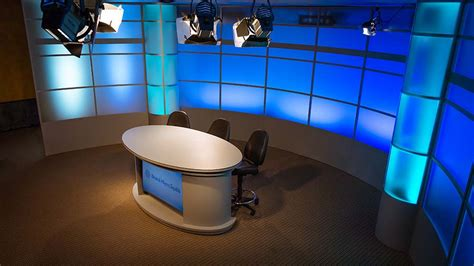 tv studio desk lighting broadcast sets matters tv set designs