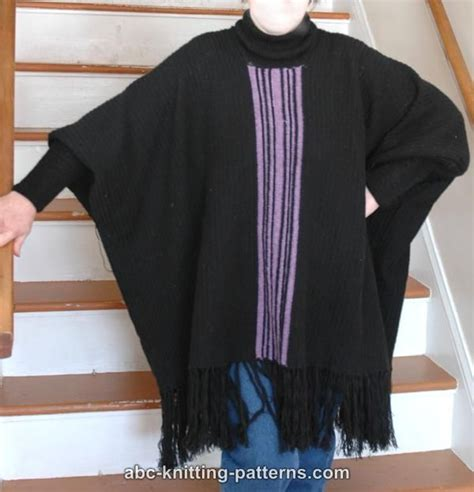 knitting pattern poncho with sleeves abc knitting patterns poncho with sleeves